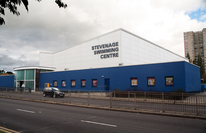 Stevenage Swimming Pool New Town Herts